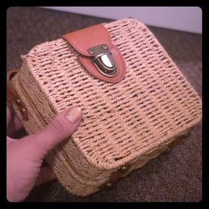 Straw square mini bag